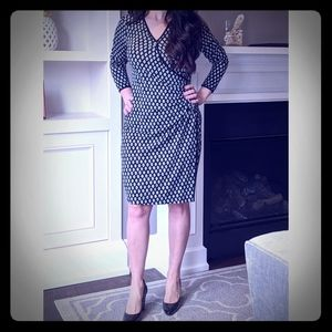 Max Studio Faux Wrap Dress Medium